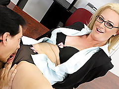 Hot And Horny MILF Cameron Fucks Worker